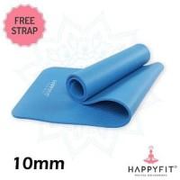 Yoga matt matras yoga happyfit NBR 10mm last stok
