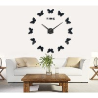 PROMO Jam Dinding 3D DIY Giant Wall Clock 120cm - Model Butterfly 2c2507453c
