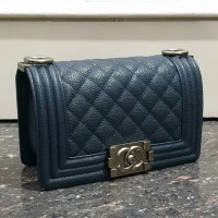 PRODUCT ORIGINAL TAS CHANEL BOY CHEVRON 20cm NAVY SILVER MIRROR e9a5efa7ff