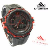 PREMIUM Jam Tangan Dziner Original Man Watch CTR2305 Black Red