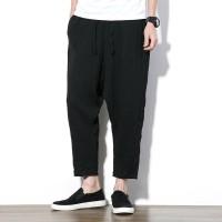 Celana Harem Pria Impor MRDONOO Betis Panjang Harem Katun linen gaya