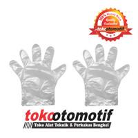Sarung Tangan Plastik 100 Pcs / Hand Glove Isi 100 Pcs Berkualitas