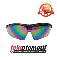 Kacamata Gerinda Sport Rainbow / Kacamata Sepeda Hitam K55 Berkualitas