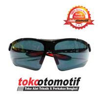 Kacamata Gerinda Sport Black / Kacamata Sepeda Hitam K55 Berkualitas