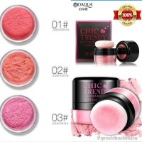 BIOAQUA CHIC TRENDY ROSE BLUSH ON / blushon tabur powder Original