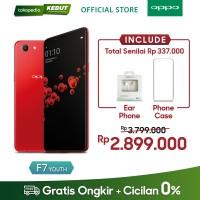 Jual OPPO F7 Youth 4GB/64GB -AI Beauty Technology 2.0 Red Murah