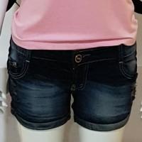 Hotpant Jeans wanita keren bahan elastis size 30