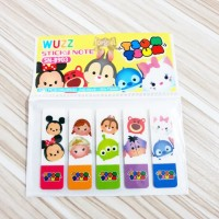 Post It Plastik TSUM TSUM / Pembatas Buku Karakter Disney Sticky Notes