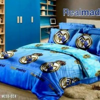 Sprei Sorong 2in1 Microtencel Real Madrid 120x200