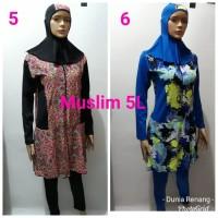 Baju Renang Dewasa Wanita Muslim Muslimah Panjang Polos Jumbo 4L 5L