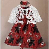 Dress Anak Perempuan Kid Imut Batik - Merah