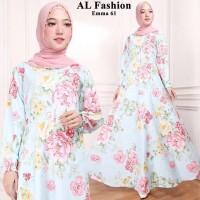 Maxi Emma (61) Bunga Baju Muslim Wanita Gamis Model Kekinian Terbaru