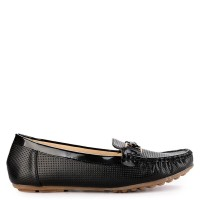 Prima Classe CH18 Loafers Warna Solid Detail Tekstur Perforasi