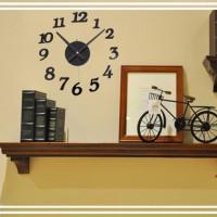 Unik Jam Dinding Modern 3D Frameless Large Wall Clock DIY De 889e69b20f