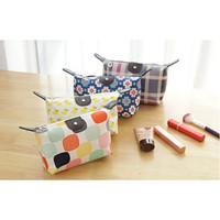 tas dompet kosmetik tempat make up lipat motif - FTS039