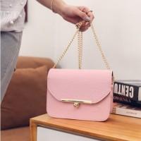 Tas Wanita Pink Cantik Elegan Pesta Selempang Clutch Kecil Fashion