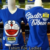 Harga kaos wanita t shirt fans persib bandung baju gadis | Pembandingharga.com