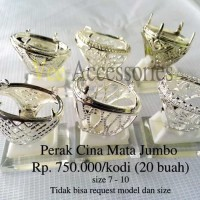 p Grosir Ring / Emban Cincin Perak Malaysia / Cina Mata Jumbo