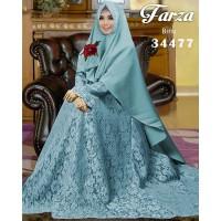 Baju Gamis Wanita Terbaru PESTA FARZA BIRU 34477