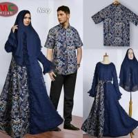 Baju batik couple navy blue