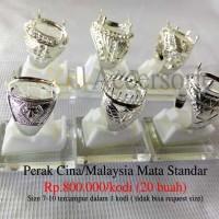 p Grosir Ring / Emban Cincin Perak Malaysia / Cina Mata Standar