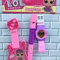Jam tangan anak digital termurah seruling gitar LOL, frozen, sofia
