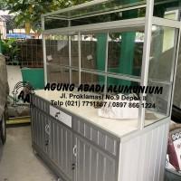 Gerobak Alumunium Buah Keramik