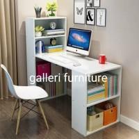 Meja kerja, komputer dan belajar putih