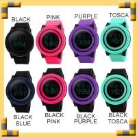 Jam Tangan Wanita SKMEI 47mm FEMALE LED Display Watch Casio Black 1142