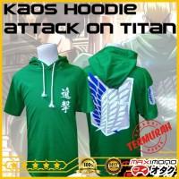 Jual Kaos Hoodie Anime Attack on Titan Murah