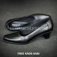 Sepatu Heels Bally Premium Quality Pantofel Wanita Kulit Asli 7081