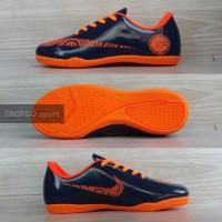 Sepatu futsal anak Nike CR7 hitam list putih (bukan magista, tiempo)