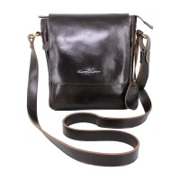 Shoulder Bag Kulit Stefano Dark Brown