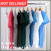 Kaos dalam Pria bahan cotton lembut SKU-KDADD