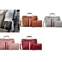 KPC8386 Black/Brown/Gray/Pink/Red Tas Fashion Wanita - PINK