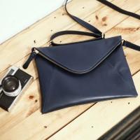 Gammara Leather Clutch Bag - Bira (Navy Blue)