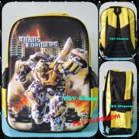 Tas Sekolah Anak Ransel SD Transformer BUMBLE BEE - OPTIMUS PRIME