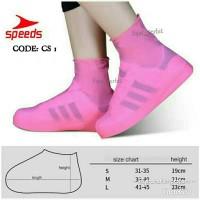 sarung sepatu hujan tinggi cover shoes karet waterproof pelindung air