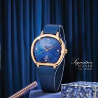 JAM TANGAN WANITA BONIA BNB10478-3586 BLUE ROSE GOLD ORIGINAL