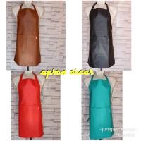 celemek/apron kulit sintetis oscar murah