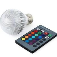 PROMO BOHLAM LAMPU LED 3W RGB 16 WARNA REMOTE - SPOT LIGHT
