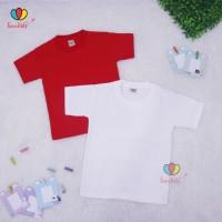 Kaos Merah-Putih uk 7-8 th / Kaos Oblong Anak - Kaos Polos Anak