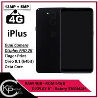 Smartphone IPlus Black Internal 64GB Ram 4GB LTE - 4G
