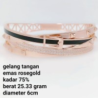 gelang tangan emas rosegold kadar 75% cartier gesper