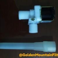 "Solenoid Plastik Pengisian Depot Air Isi Ulang 1/2"" x 1/2"" 220 VAC"
