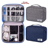 TRAVEL POUCH ORGANIZER CABLE GADGET BAG TAS KABEL CHARGER USB