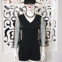 Baju fashion wanita Jumpsuit v neck kombu tile