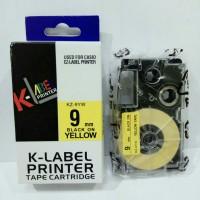 k-label printer used for casio ez label printer black on yellow 9 mm