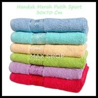 MURAH Handuk Muka Merk Merah Putih Polos 30x70cm Handuk Kecil Sport