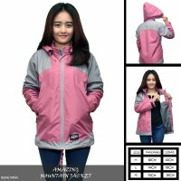 JAKET OUTDOOR WATERPROOF   JAKET ANTI ANGIN WANITA - ADV PINK fc4210eb4c